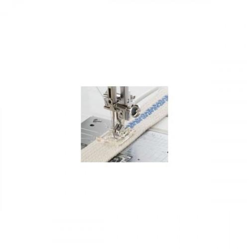 Pied quilting & transparent avec barre de guide (OV)